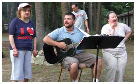 Campfire sing-a-long