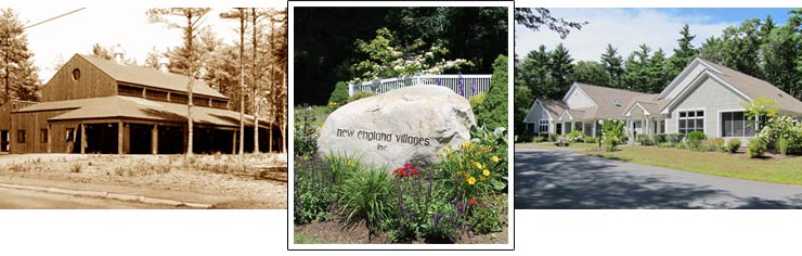 Images of New England Village: Than and now