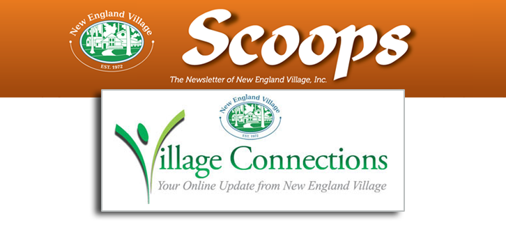 Scoops logo and Village Connections logo
